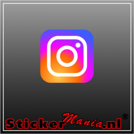 Instagram logo full colour sticker
