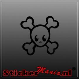 Bones skull sticker