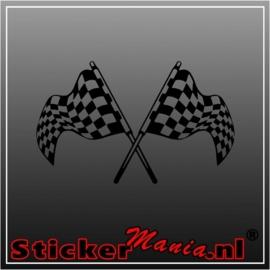 Dubbele vlag 3 sticker