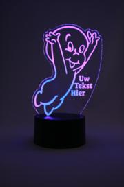 Casper het spook met eigen tekst led lamp