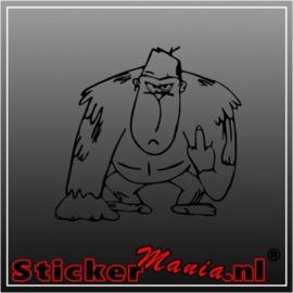 Gorilla middelvinger sticker