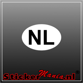 NL Wit Zwart Full Colour sticker