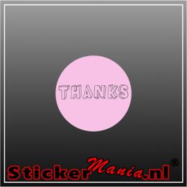 Thanks Sticker roze