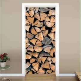 Gekloofd hout deur sticker