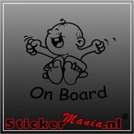 Baby on board 4 sticker