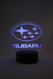 Subaru logo led lamp