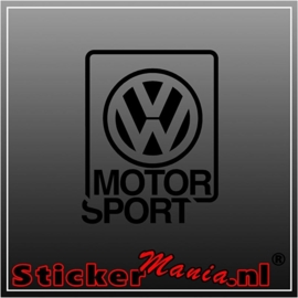 Volkswagen motorsport sticker