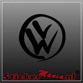 Volkswagen logo 2 sticker