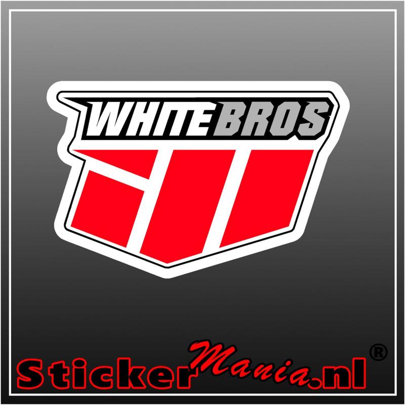 White bros full colour sticker