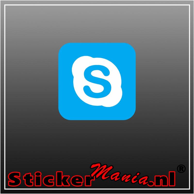 Skype logo full colour sticker