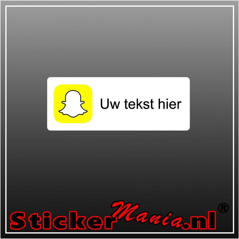 Snapchat logo met eigen tekst