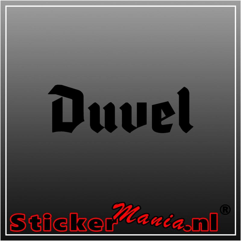 Duvel sticker