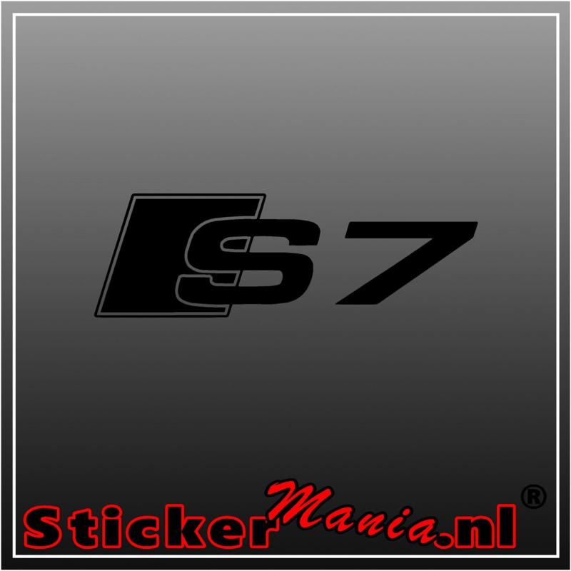 Audi S7 sticker