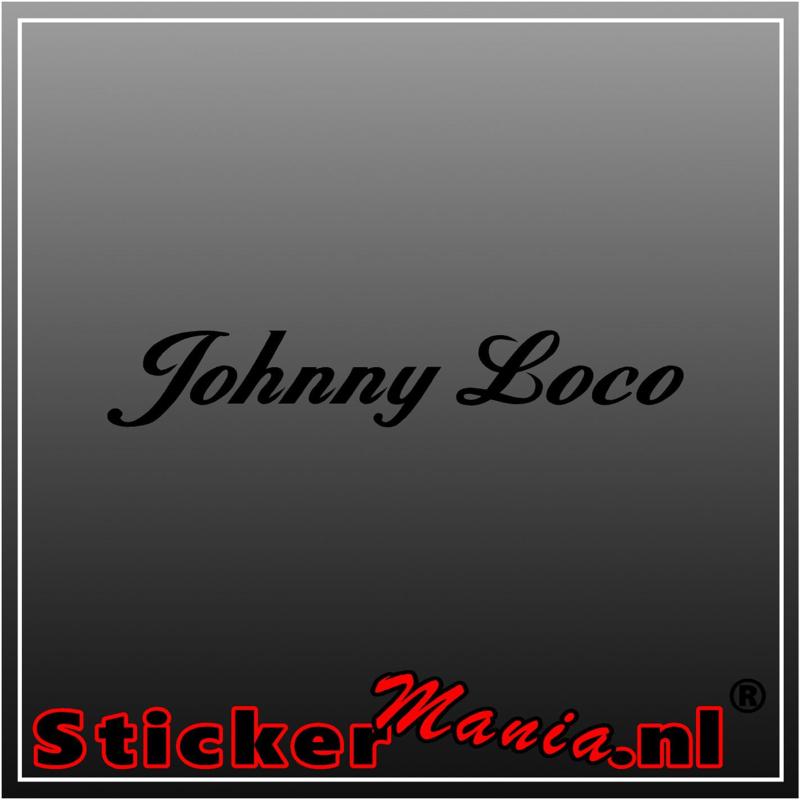 Johnny loco sticker