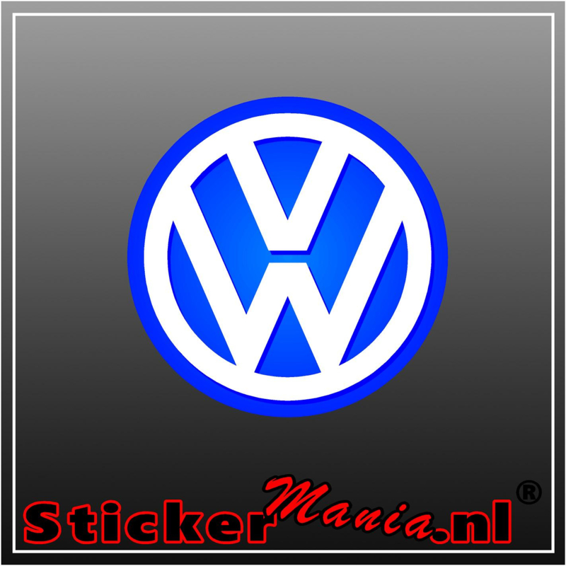 Volkswagen Logo Full Colour sticker