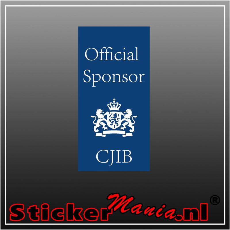 Official CJIB sponsor full colour sticker
