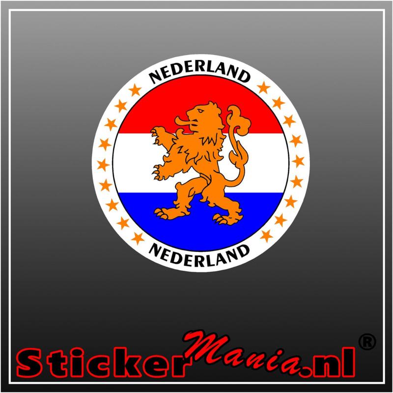 Nederlandse vlag met leeuw sticker