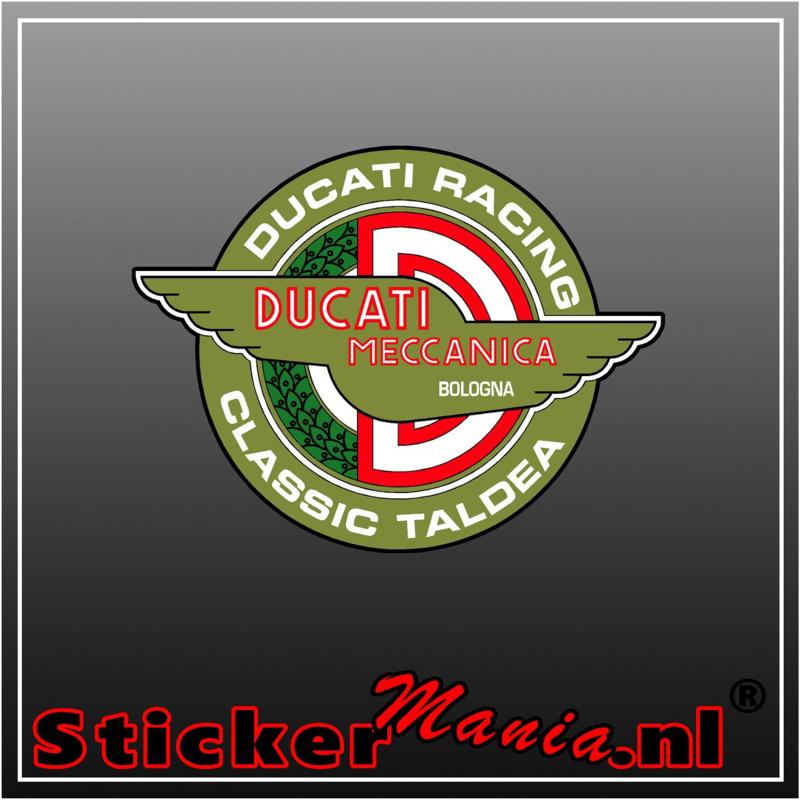 Ducati racing full colour sticker