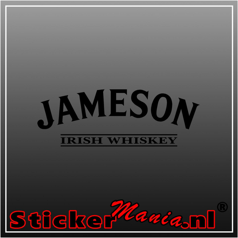 Jameson whiskey sticker
