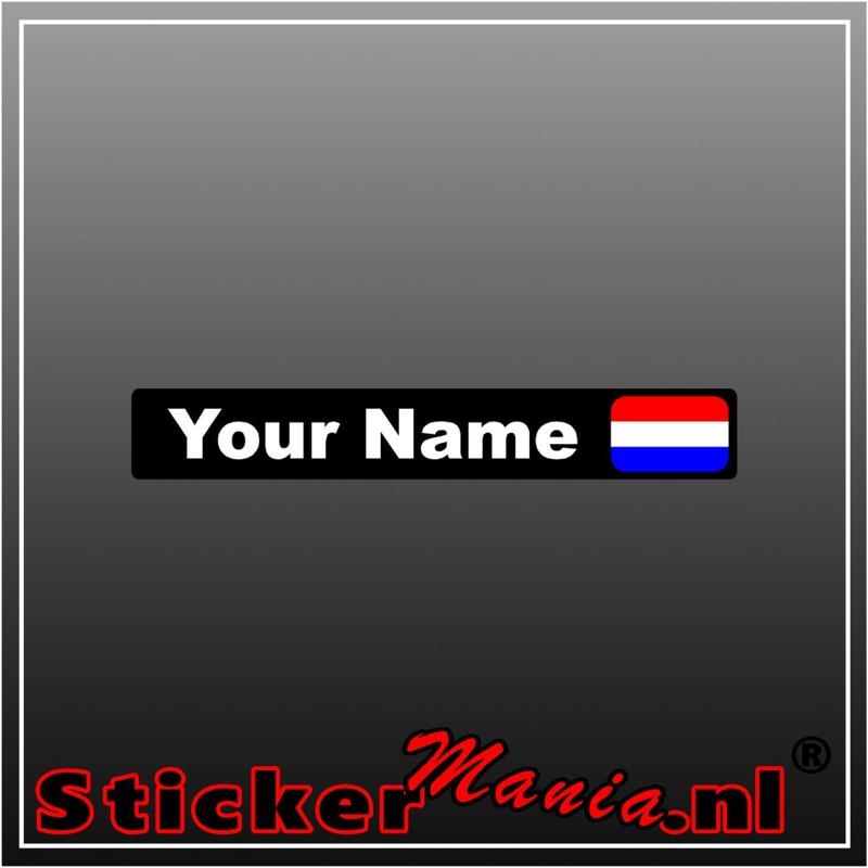 Fietsframe naam full colour sticker set