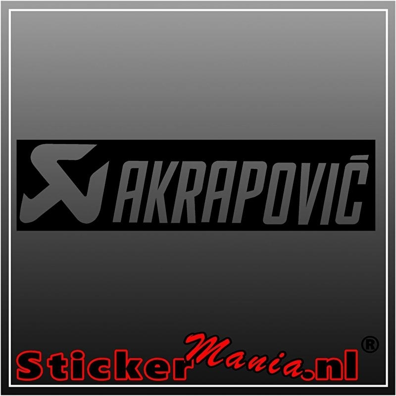 Akrapovic sticker
