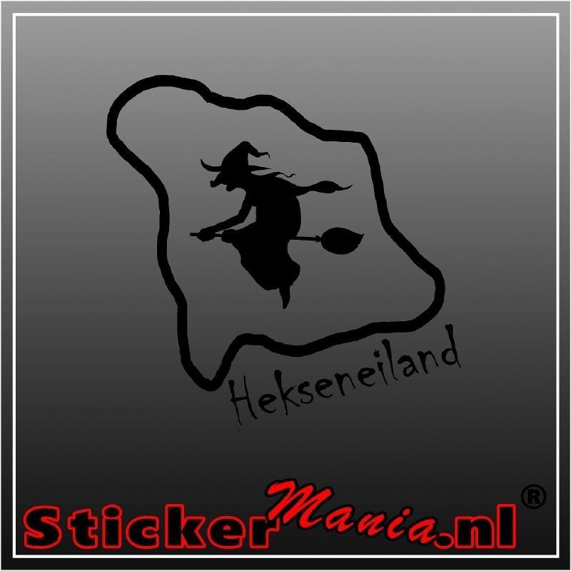 Heksen eiland sticker