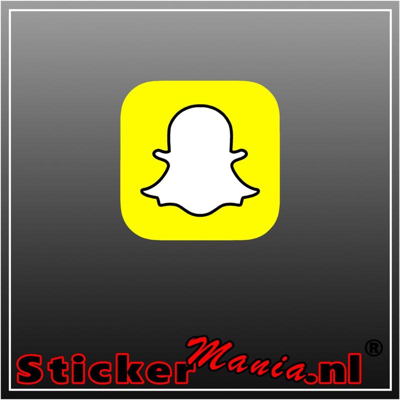 Snapchat logo full colour sticker