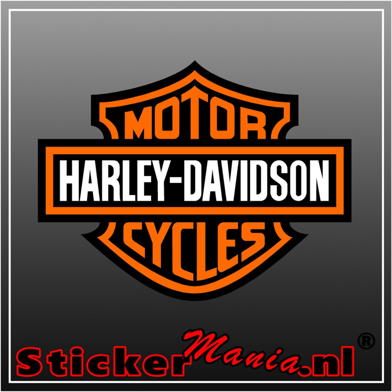 Harley davidson motor cycles full colour sticker
