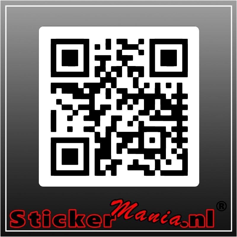 QR-code met achtergrond sticker