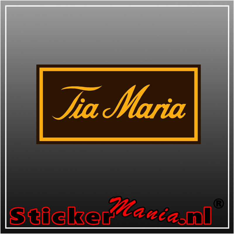 Tia Maria Full Colour sticker