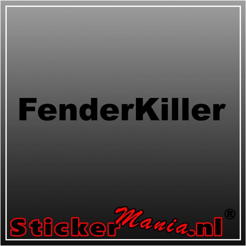 Fender killer sticker