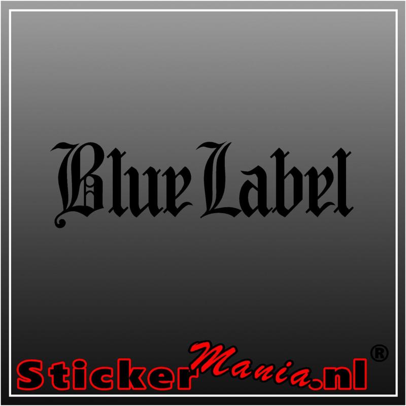 Johnnie Walker blue label sticker