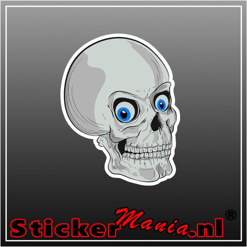 Skull 10 full colour sticker