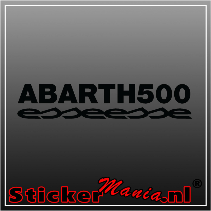 Fiat 500 abarth esseesse sticker