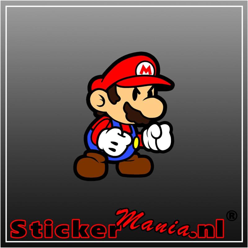 Mario 1 Full Colour sticker