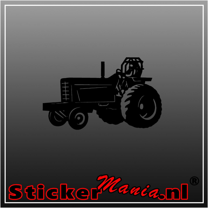 Tractor pulling sticker