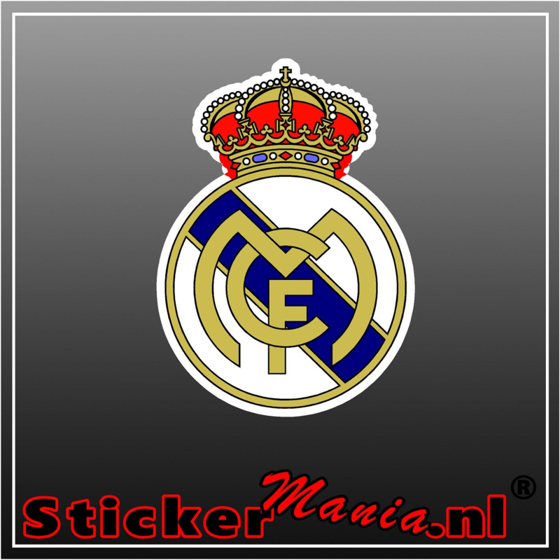 Real Madrid full colour sticker