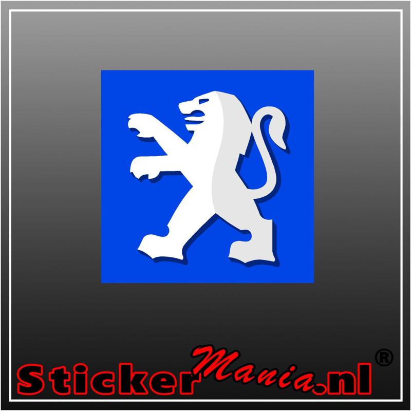 Peugeot Logo Full Colour sticker