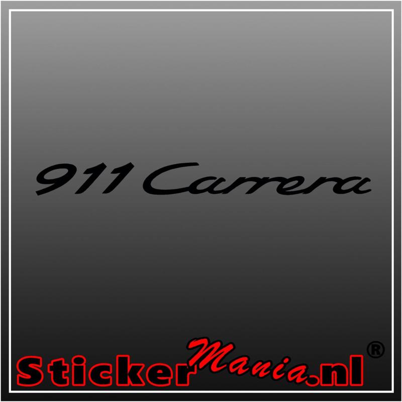 Porsche 911 carrera sticker
