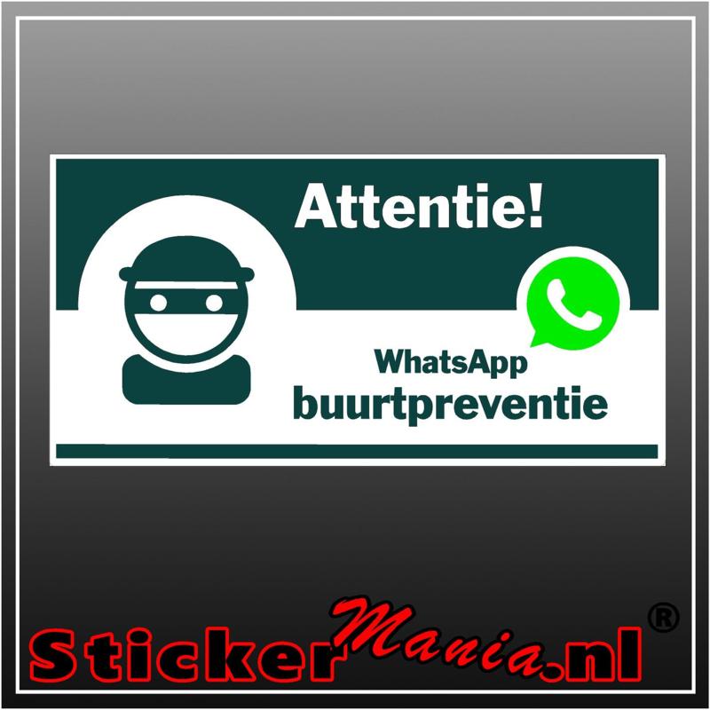 Whatsapp buurtpreventie full colour sticker