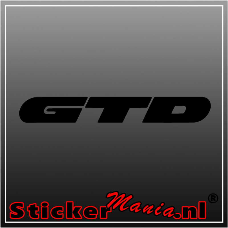 Volkswagen GTD sticker