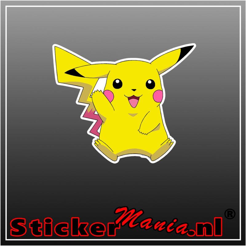 Pikachu 2 Full Colour sticker