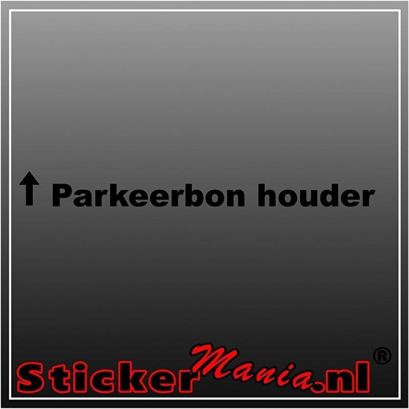 Parkeerbonhouder 2 sticker