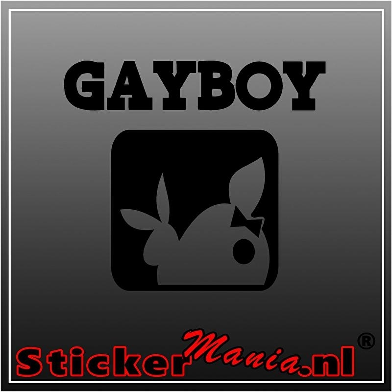 Gayboy sticker