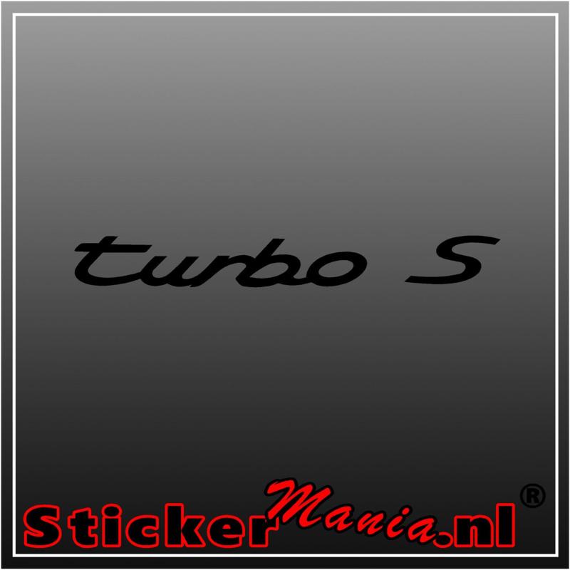 Porsche turbo S sticker