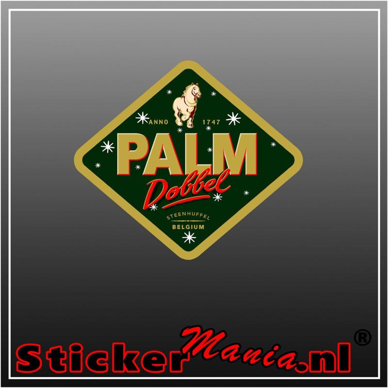 palm dobbel Full Colour sticker