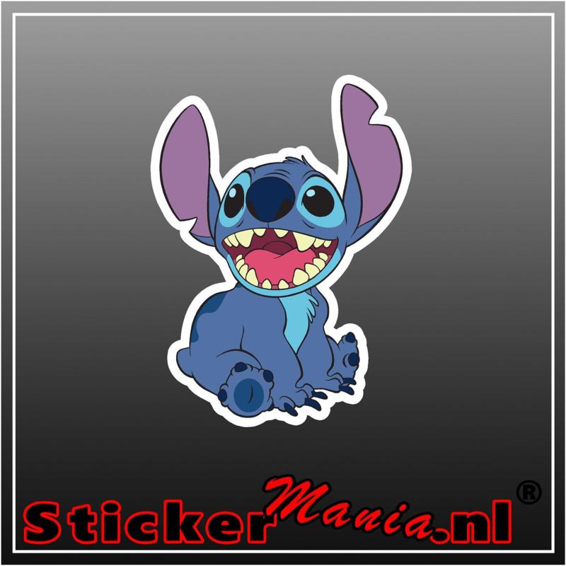 Stitch 2 full colour sticker