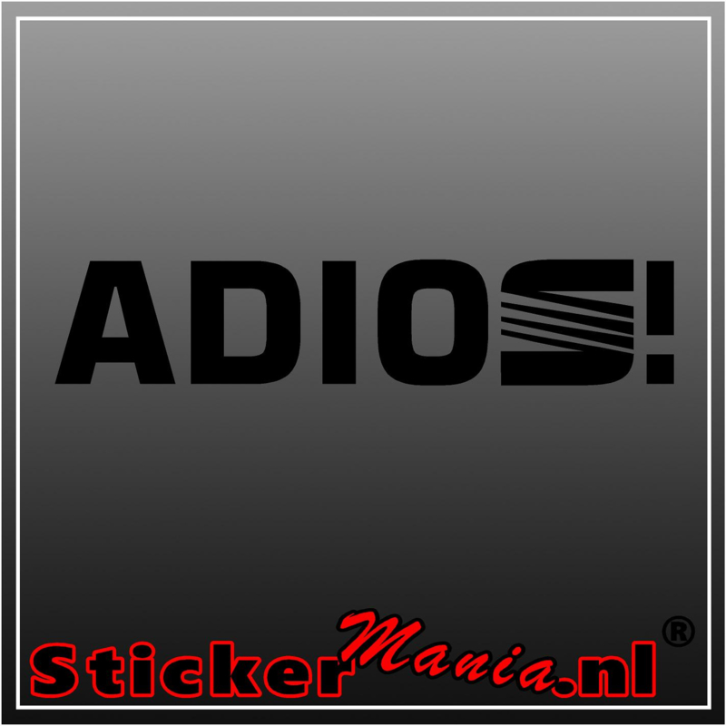 Seat adios sticker