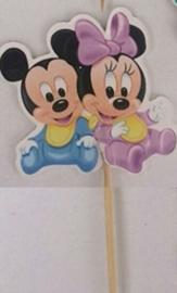 1 Prikker 3D Mickey en Minnie baby- stokje naar keuze