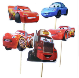 Set B prikkers Cars groot (6st.) - stokje naar keuze